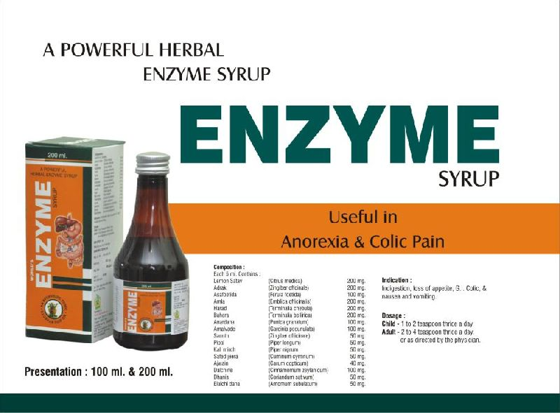 ayurvedic Enzyme Syrup Manufacturer in Rohtak Haryana India