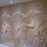 sand stone mural