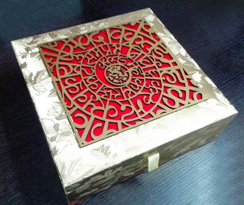 Laser cutting wedding card box manufacturer in delhi delhi for Wedding box cards india