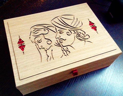 Laser Cutting Wedding Card Box Manufacturer In Delhi Delhi India By
