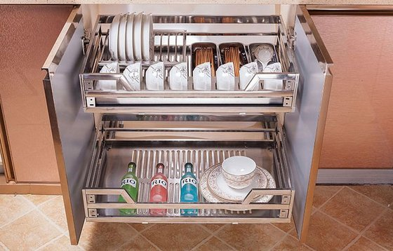 Stainless Steel Kitchen Cabinets Pull Out Basket Manufacturer In