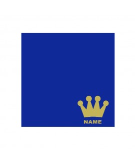 Crown Blue Personalised Cushion
