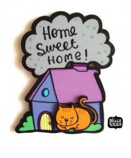 Home Sweet Home- Cat Magnet