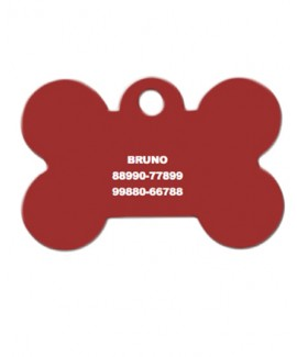 HUFT Bone Dog Name Tag-Red