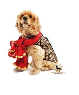 HUFT Customized Black Dotted Dog Sherwani