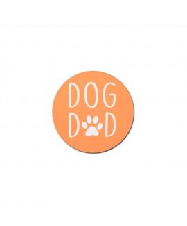 HUFT Dog Dad Fridge Magnet - Orange