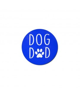 HUFT Dog Dad Magnet - Blue
