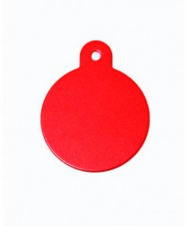 HUFT Dog Name Round Red Tag