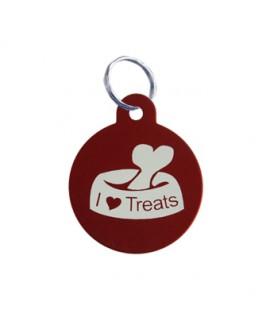 HUFT Dog Name Tags-I Love My Treats