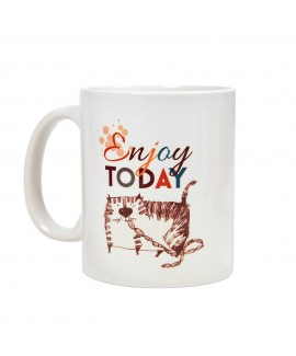 HUFT Enjoy Today Cat Mug