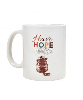 HUFT Have Hope Cat Mug