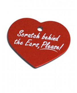 Scratch Behind the Ears! HUFT Heart Dog Name Tag