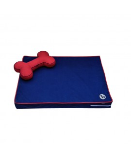 HUFT Orthopedic Dog Bed with Cushion - Blue