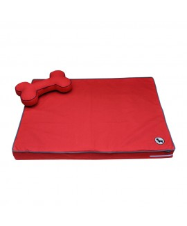 HUFT Orthopedic Dog Bed with Cushion - Red