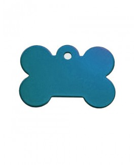 HUFT Personalised Bone Dog Name Tag-Blue