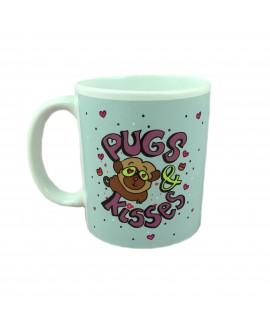 HUFT Pugs Kisses Coffee Mug
