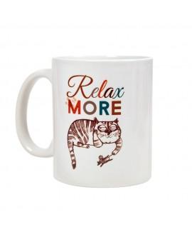 HUFT Relax More Cat Mug