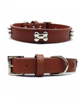 Brown HUFT The London Style Dog Collar