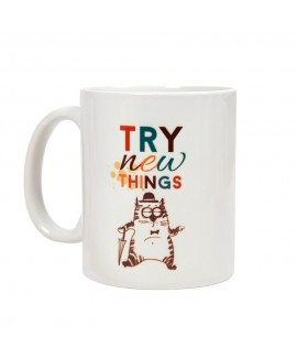 HUFT Try New Things Cat Mug