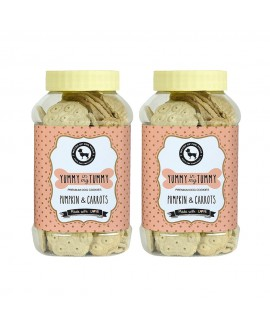 HUFT Yummy In My Tummy Pumpkin and Carrots - Dog Biscuits Combo 640 gms