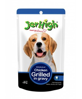JerHigh Chicken Grilled in Gravy For Dogs-720gms (6pouches)
