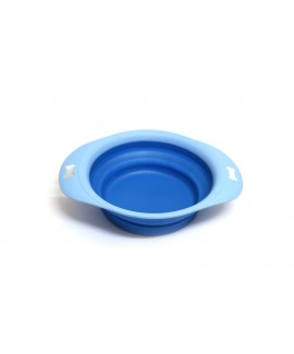 Medium Foldable Dog Bowl With Tray-Blue