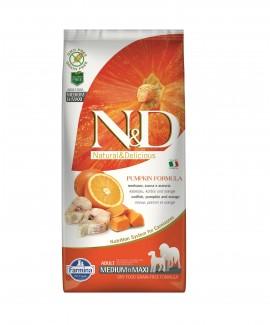 12 kg Pumpkin Grain Free Codfish Orange Dog Food