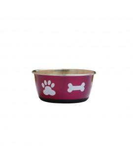 Pink Bones Paws Dog Bowl