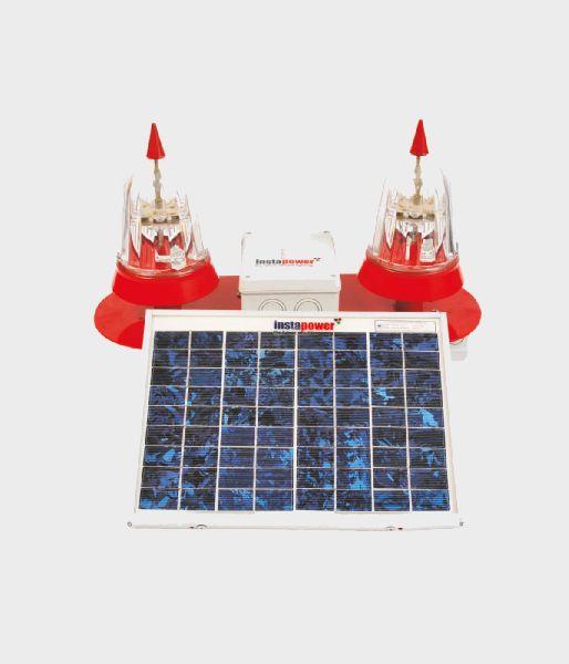Twin Solar LED Aviation Obstruction Light