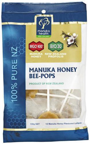 Manuka Health Propolis And Manuka Honey Bee Pops 12 Lollipops Suckles (100g)