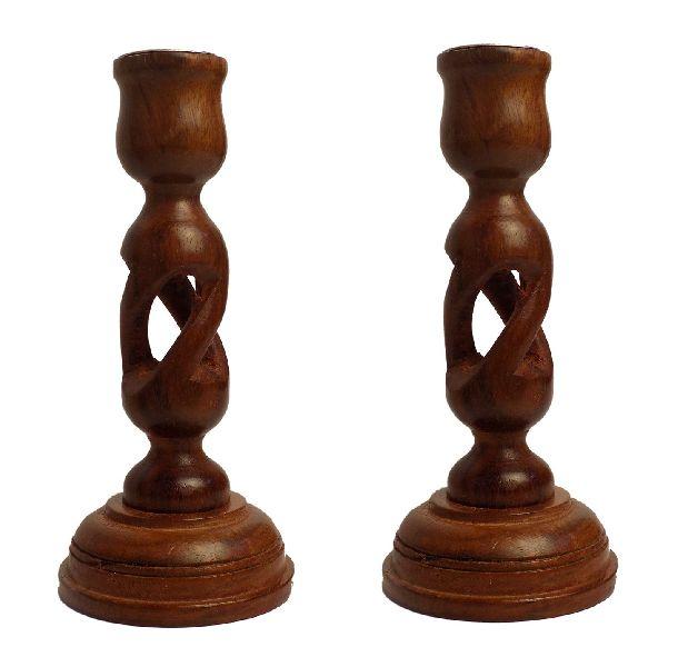 VIAN0706 Wooden Candle Holder