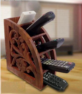 EETI0206-1 Wooden Multi Remote Control Holder