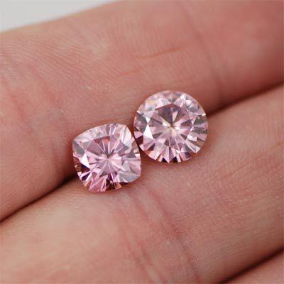 Pink Moissanite Diamonds