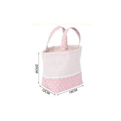 Polka And Frill Cotton Bag