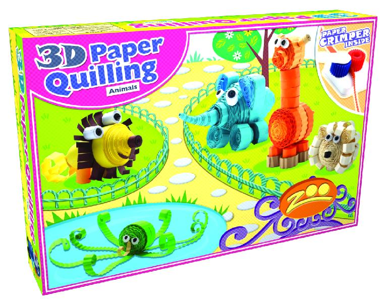 3d Paper Quilling Animals Creative Art Paper Craft Learning Diy Kit