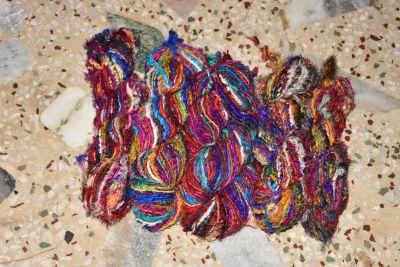 Silk Ribbon Twisted Yarn