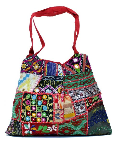 2b15f8b4be23 Cotton Multi Color Embroidery Mirror Work Hippie Boho Tote Indian ...