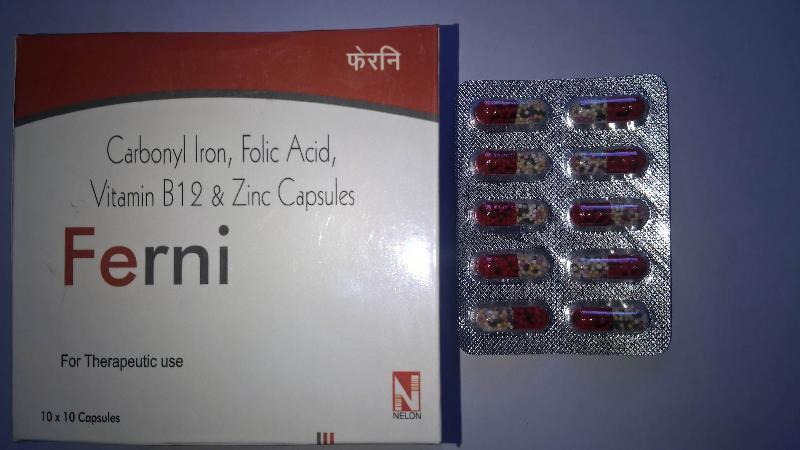 Carbonyl Iron 100 Mg Folic Acid 1 5 Mg Vitamin B12 15 Mcg Zinc