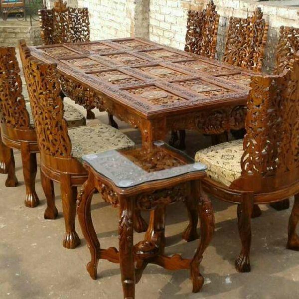 Teak Wood Dining Table Set Manufacturer In Uttar Pradesh