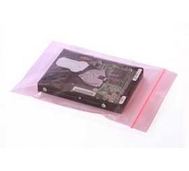 Reclosable Pink Antistatic Bags