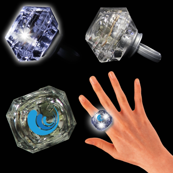 "1 3/8"" Light Up Diamond Ring"