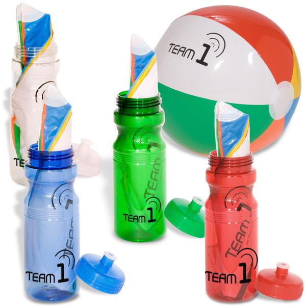 multi-color beach ball Bottle Combo