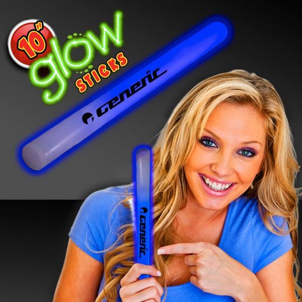 """Blue Concert 10"""" Glow light Sticks"""
