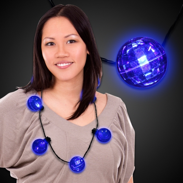 Blue LED Ball Necklace