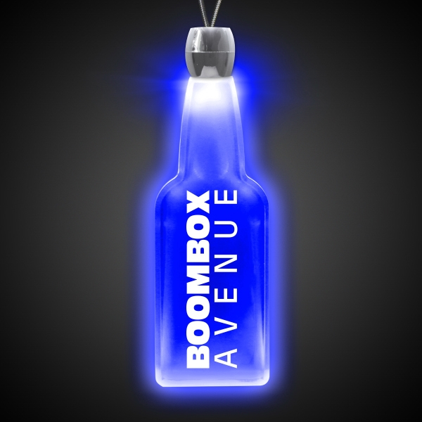Bottle Blue Light-Up Acrylic Pendant Necklace