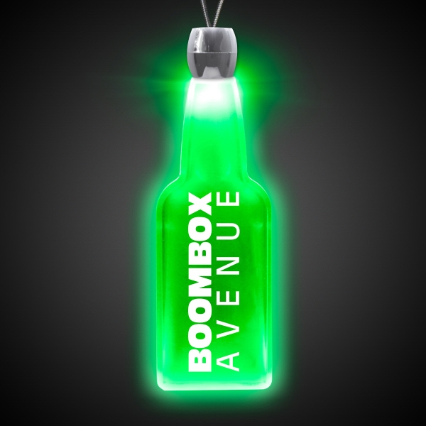 Bottle Green Light-Up Acrylic Pendant Necklace