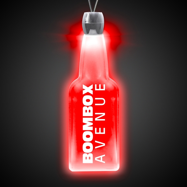 Bottle Red Light-Up Acrylic Pendant Necklace