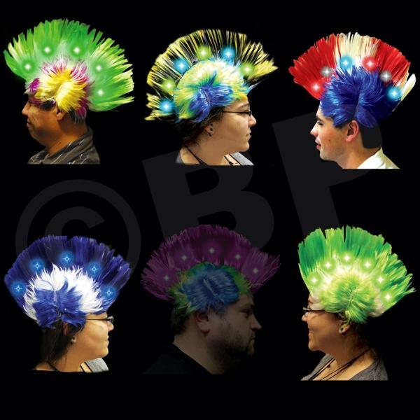 Light Up LED Mohawk Costume Wig