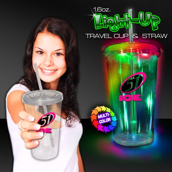 Multi Color LED Travel Cup