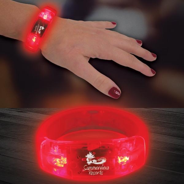 "Red 8"" Light Up LED Glow Bangle Bracelet"